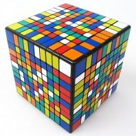 10x10 Cubo ShengShou.Cubo Mágico 10x10x10 Base Negra.