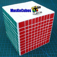 10x10 Cubo ShengShou.Cubo Mágico 10x10x10 Base Blanca.