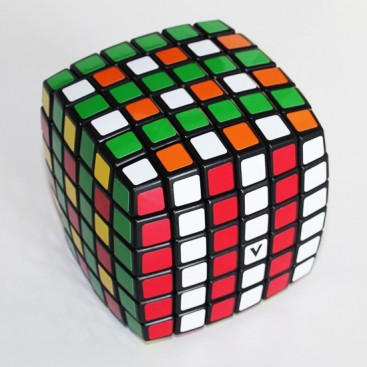 V-Cube 6b Pillow 6x6 Magic Cube. Black Base