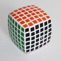 V-Cube 6b Pillow 6x6 Magic Cube. White Base