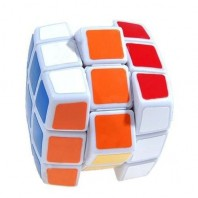 QJ 3x3x3 Pillow Magic Cube. White Base