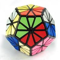 Pyraminx Crystal Minx Mágico con Tiles. Base Negra