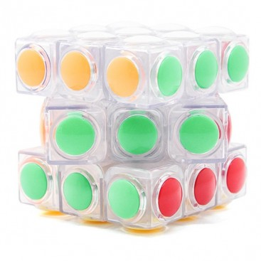 Moyu YJ LingGan 3x3 White. Tranaparente Blanco. Moyu 3x3x3 Base Cristal.