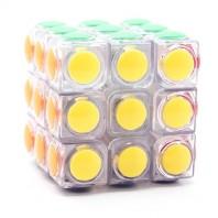 Moyu YJ LingGan 3x3 White. Transparente Blanco. Moyu Base Cristal.
