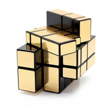 3 x 3 x 3 cube Mirror's oro-mate. Mirror Gold 3 x 3.