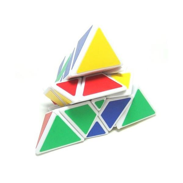 TRIANGULAR PYRAMID MASTER PYROMORPHINX WHITE BASE  MasKeCubos