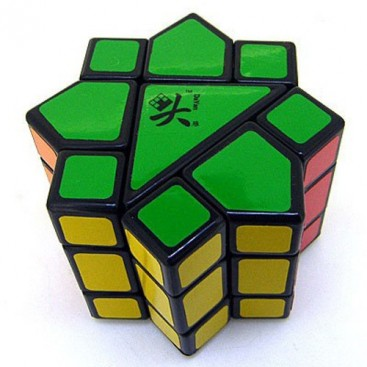 DIY DAYAN SPEED CUBE 3x3 CON STICKERS. BASE NEGRA