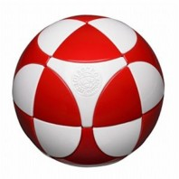 Marusenko Sphere 2x2x2 Red and White. Level 1