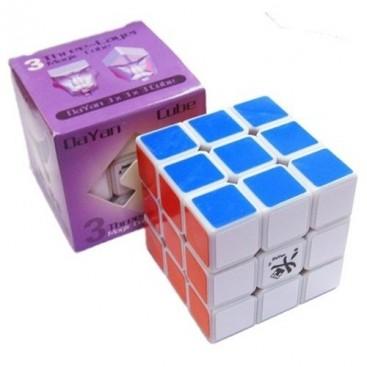 V ZHANCHI 3 x 3 x 3 DAYAN branco BASE. VELOCIDADE cubo 3x3.