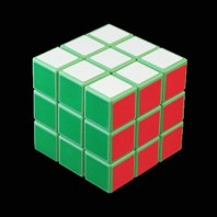 COLOR VERDE 3x3. CUBO MAGICO BASE VERDE.