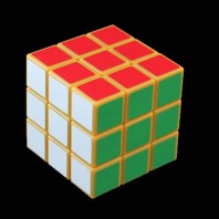 Orange 3x3x3 Magic Cube. Orange Rubik's Cube