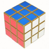Gold 3x3x3 Magic Cube. Gilded Rubik's Cube