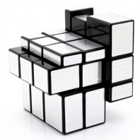 Mirror Silver 3x3x3 Magic Cube. Black Base
