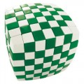 V-Cube Illusion 7x7 Magic Cube. Green and White
