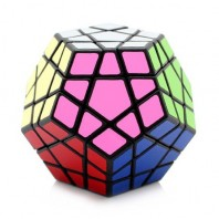 Shengshou Megaminx 12x12. Magic Minx Cube. Black Base