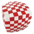 V-Cube Illusion 7x7 Magic Cube. Red and White
