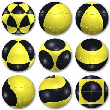 Esfera 2x2 I. Marusenko 2x2x2 Amarillo Y Negro. Nivel 1