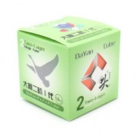 Dayan Zhanchi 50mm 2 x 2 with stickers. 2 x 2 x 2 white Base with stickers.