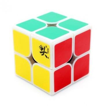 Dayan Zhanchi 50mm 2x2 con stickers. 2x2x2 Base Blanca con pegatinas.