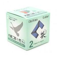 Dayan Zhanchi 46mm 2 x 2 com adesivos. 2 x 2 x 2 Base preto com adesivos.
