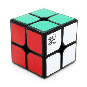 Dayan Zhanchi 46mm 2x2 con stickers. 2x2x2 Base Negra con pegatinas.