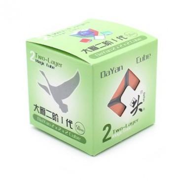 Dayan Zhanchi 50mm 2x2 con stickers. 2x2x2 Base Negra con pegatinas.