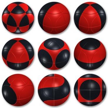Marusenko Sphere 2x2x2 Black and Red. Level 1
