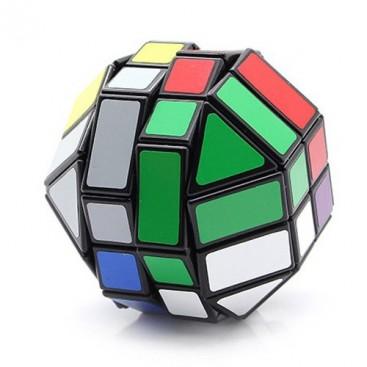 4 x 4 LanLan Dodecahedron. 8 colors. 18 sides Base black.