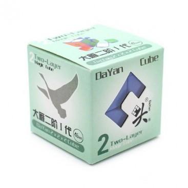Dayan Zhanchi 46mm 2x2 stickerless. 2x2x2 Solid sin pegatinas.