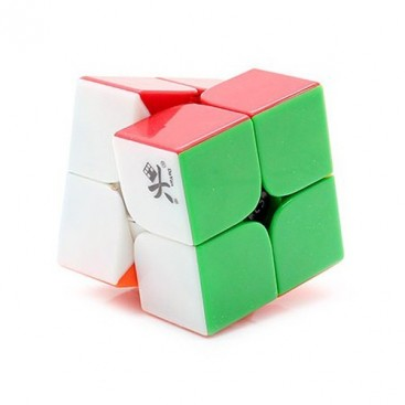 Dayan Zhanchi 50mm 2x2 stickerless. 2x2x2 Solid sin pegatinas.