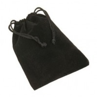 Bolsa de terciopelo. Para cubos mágicos. Velvet Bag Black.