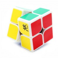 Dayan Zhanchi 46mm 2 x 2 with stickers. 2 x 2 x 2 white Base with stickers.
