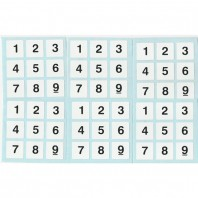 Sudoku 3x3 Stickers. White Set