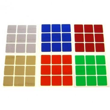 Chrome 3x3 Stickers Set. Pegatinas Chrome Brillante