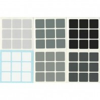 Grey Scale 3x3 Stickers Set. Pegatinas Escala de Grises