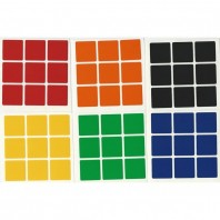 3x3 Stickers White Set. Magic Cube Replacement