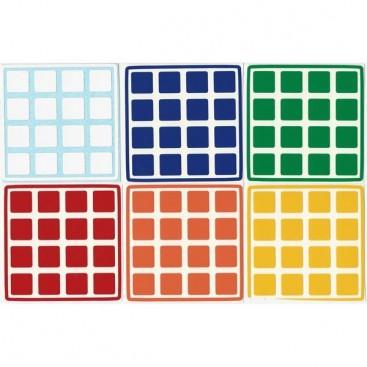 Conjunto padrão de 4 x 4 adesivos. Substituição do cubo mágico
