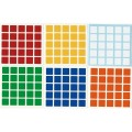 5x5 Stickers Standard Set. Pegatinas Base Negra