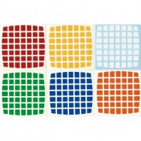 V-Cube 7x7 Stickers Standard Set. Pegatinas Base Negra