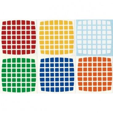 V-Cube 7x7 Stickers Standard Set. Pegatinas Base Negra