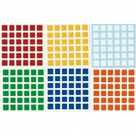 V-Cube 6x6 Stickers Standard Set. Pegatinas Base Negra