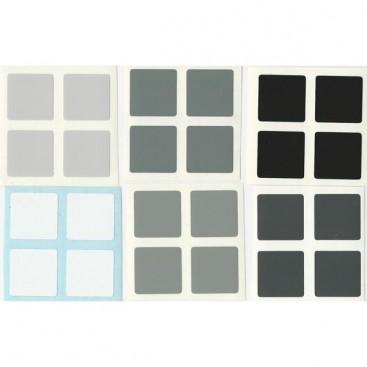 East-Sheen 2x2 Stickers Grey Scale Set. Pegatinas Escala Gris