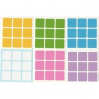 3x3 Stickers Light Set. Pegatinas Luz Base Negra
