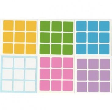 3x3 Stickers Light Set. Pegatinas Luz Base Negra