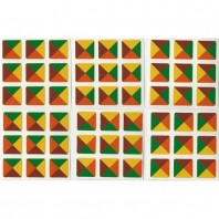3 x 3 adesivi triangolo Tartan Ltd Edition