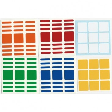 3x3x7 Stickers Standard Set. Pegatinas Cuboide Base Negra