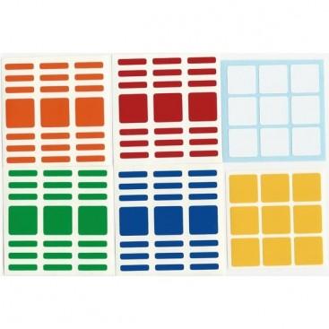 3x3x7 Stickers Standard Set. Pegatinas Cuboide Base Negra