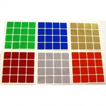 4x4 Stickers Chrome Set. Magic Cube Replacement