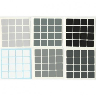 4x4 Stickers Grey Scale Set. Pegatinas Escala Gris