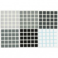5x5 Stickers Grey Scale Set. Magic Cube Replacement